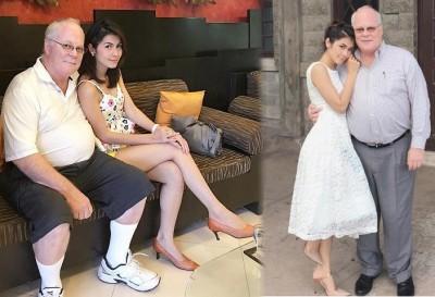 """农纳与美富翁的""""父女恋"""",以离婚收场。"""