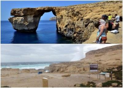 马耳他著名景点蓝窗塌下海中,令该地理景观从此消失世上。