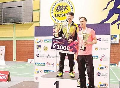陈加伟战胜科洛获得男单冠军。