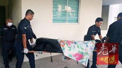 警方将欧亚籍男子的遗体送往太平间解剖。