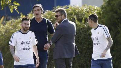 梅西正在备战阿根廷与智利和玻利维亚的世界杯外围赛。