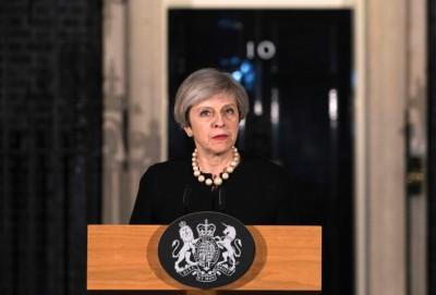 特丽莎梅呼吁民众不要屈服于恐怖主义下。(法新社照片)