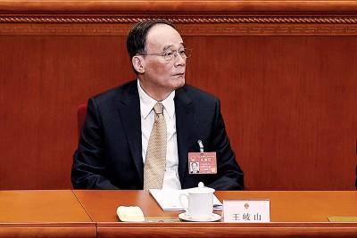 王岐山周日下午参加北京代表团审议时,强调构建党统一反腐体制。