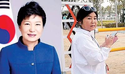 朴槿惠(左)与崔顺实(右)收三星430亿韩元。