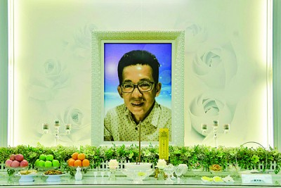 吴斌安家属今晚以方便纪念馆为外设灵,丧礼采用佛教仪式。