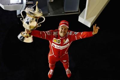 法拉利车队的维泰尔在巴林赛站有一次击败汉密尔顿,收获他个人本赛季第2个分站冠军。