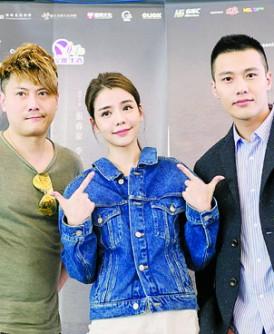 """金沛晟(左)""""最完美的女孩""""上映12天票房冲破40万令吉。右起为张睿家和李毓芬。"""