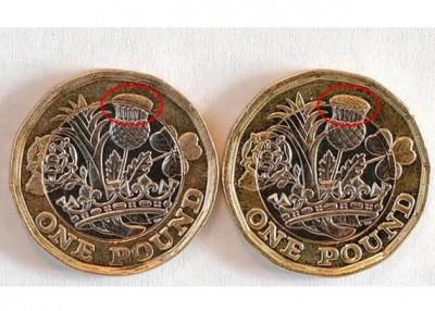 假币(左)与真币(右)略有不同。