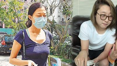 (右)吴绮莉戴口罩遮住憔悴面容,赶往医院探视女儿。(左)吴卓林惊传因情绪问题住院。
