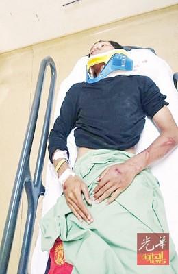 受伤的嫌犯被送入院治疗。