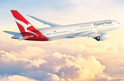 澳洲航空一架波音747客机早前曾失速及急坠,幸最后安全降落,图为同款客机。