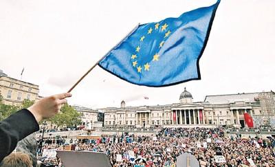 留欧派民众不满公投结果,多次发起集会。