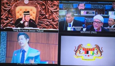 反对党国会议员轮番上阵,精算阻止议长让其党主席哈迪阿旺提上私人动议。