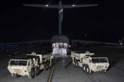 萨德有组件早前就运抵韩国。
