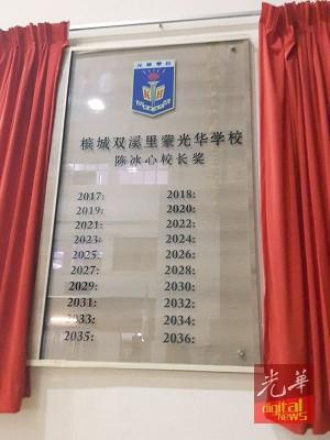 荣休典礼上推介陈冰心校长奖。