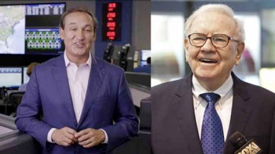 联合航空爆公关灾难后股价受压,行政总裁穆尼奥斯(左)及大股东巴菲特亏钱。
