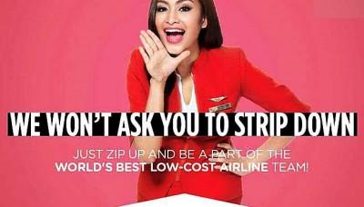 """没有航即将进行招聘空服人员走,宣传广告表明不求女应征员脱衣,明明是对准马印航空""""荒谬和恶心""""的""""脱衣面试""""风波。"""