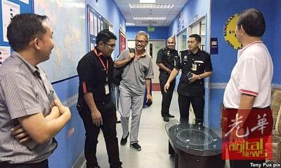 潘俭伟抵达亚庇国际机场后,被告知禁止入境沙巴。