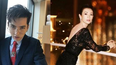 章子怡(右)和吴亦凡将合作王家卫导演的新片。