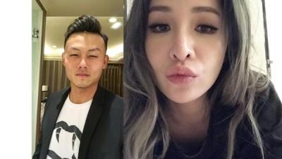 37岁萧亚轩(右图)与小13岁高球选手男友陈桦(Michael)6天前宣告分手。