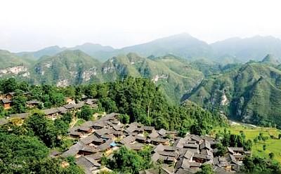 石阡县河坝镇和本庄镇的夜郎文化潜在资产巨大,为此当局打算进一步建造大型文化园。图为石阡河坝夜郎风景区。