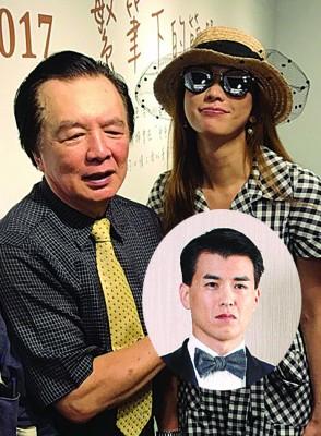 林志玲父亲林繁男开画展,林志玲现身站台。围绕图为杨仁沛。