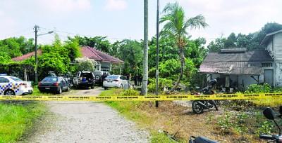 警方封锁案发现场,进行调查。