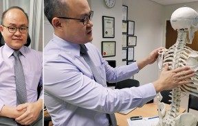 骨骼及脊椎外科专科医生邱荣辉解释,因脊椎侧弯而导致一侧肩胛骨突出是脊椎侧弯的明显症状之一。