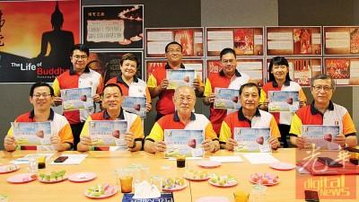 慧音社理事在发布会后合照,前排左起为林唐欣、程福隆、庄耿康、彭春松及黄植翔。