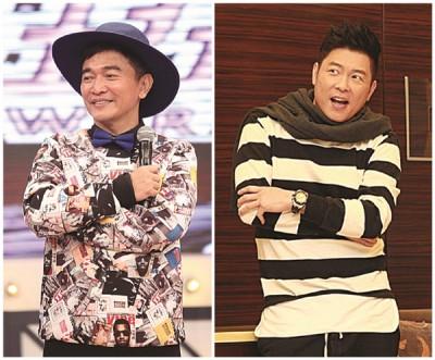 吴宗宪(左)以及曾国城分别为综艺主持人台湾收入的顺序2称和程序3称。