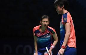 许嘉雯(右)和温可微在苏杯上并未有亮眼的竞争力,或因此错过世锦赛,因此转战她们在上届夺得银牌的东运会。