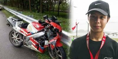 20歲的黃家珉不幸在本周二喪命於大馬南北大道。