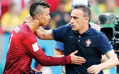 保罗本托(右)当年率领C罗等人出战大赛。大马足总证实本托并不是国足新帅。