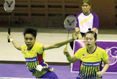 宋佩珠(左)以及郑清忆于泰国挑战赛止步8高。(网络图)