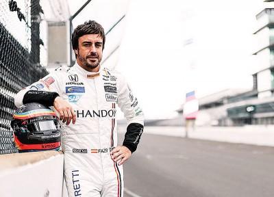 阿隆索INDYCAR赛车的首次赛道测试即展现了自己的实力。