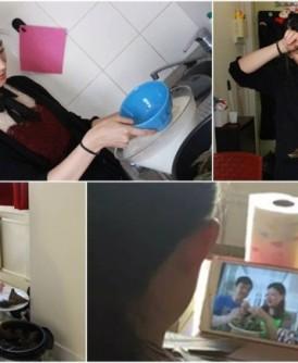 在法国留学的张艺菲不会裹粽,只好向远在辽宁的父母求助。(网上图片)