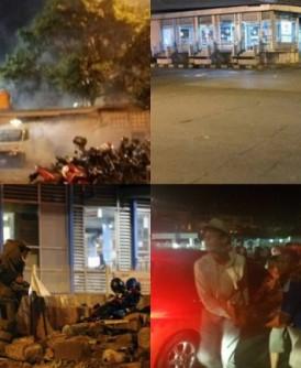 爆炸发生后,警方到场救人及戒备,拆弹小组查看是否有爆炸品。