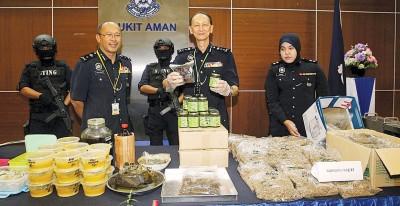 警方肃毒行动中起获的其中一项器材。