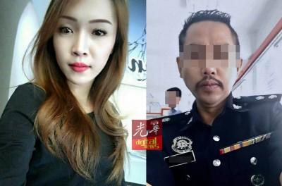 涉案警局局长与遭开枪夺命的怀孕女友西蒂娜迪拉。