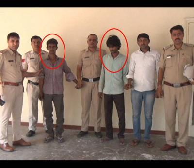 警方已逮捕2名凶嫌(红圈者),分别是萨米特(右)与维克斯。