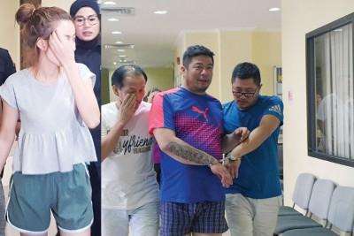 4名男女被告闻讯后,各别被庭警押出法庭。