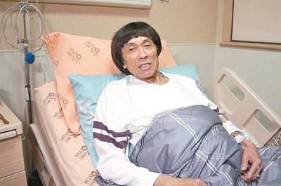 猪哥亮在台大医院接受治疗。