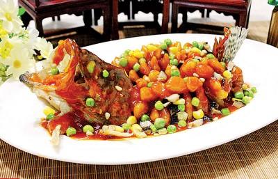 华夏名菜松鼠桂鱼。