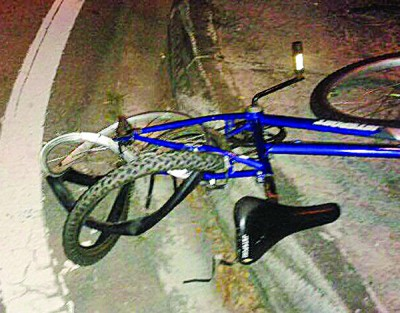 死者出事前所乘骑的脚车。