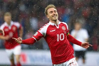 托登汉热刺中场埃里克森率先破门让丹麦一度取得领先优势。