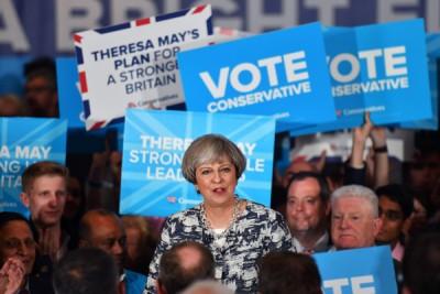 """特丽莎梅曾被视为""""带领英国的希望""""。(法新社照片)"""