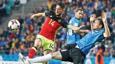 默滕斯(14号)为比利时首开纪录。