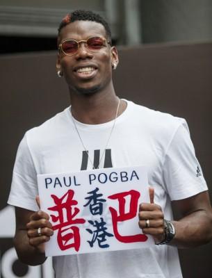 """博格巴现身香港出席活动,港人称他为""""普巴""""。"""