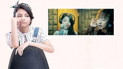 (小图)李佩玲与师兄合唱《Stay With Me》,作为一个试验性的尝试。