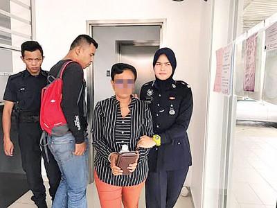 公安部以涉案女子带回来警局查办。